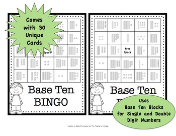 Base Ten BINGO Card Set