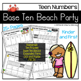 Base Ten Beach Party (Teen Numbers)