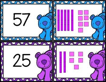 Base Ten Bear Match Up