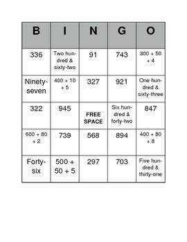 Base Ten Bingo (EDITABLE)