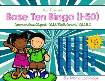 Base Ten Bingo (Kid-Themed)