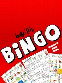 Base Ten Bingo! (Spiraled questions with 14 different playing cards included!)
