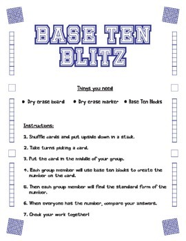 Base Ten Blitz