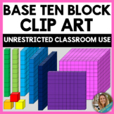 Base Ten Block Clip Art / Place Value Clip Art / Math Clipart