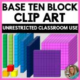 Moveable Pieces Base Ten Block Clip Art / Place Value Clip