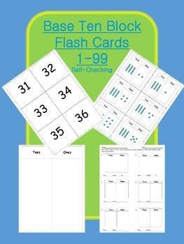 Base Ten Block Flash Cards