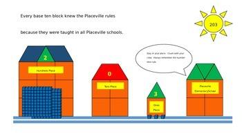 Base Ten Block Fun:  Placeville (Powerpoint Movie)