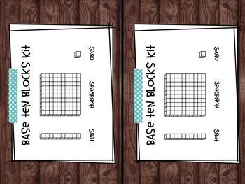 Base Ten Block Kit Labels (3 divider tupperware)