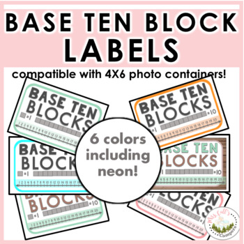 Base Ten Block Labels (4x6 photo storage containers)