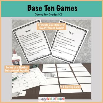 Base Ten Matching & Comparing Games