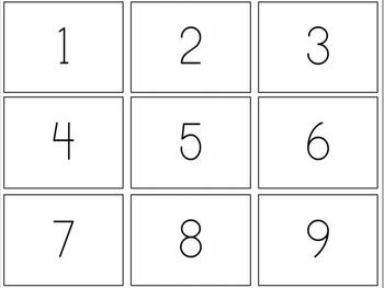 Math Center: Base-Ten Block / Number Recognition Memory Game