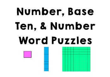 Base Ten Block Puzzles