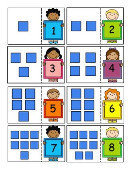 Base Ten Blocks 0-20 and 10-100 Math Center