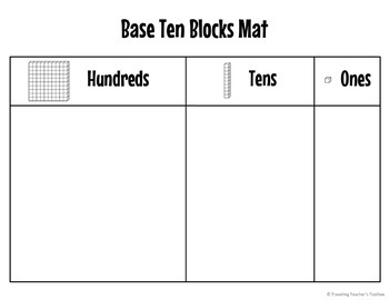 Base Ten Blocks Mats