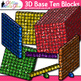 3D Base Ten Blocks Clip Art {Counting and Measurement Tools for Math}