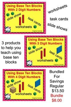 Base Ten Blocks BUNDLE