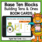 Base Ten Blocks Building Tens and Ones Boom Cards