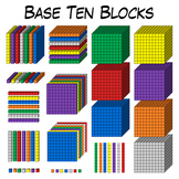 Base Ten Blocks Clip Art
