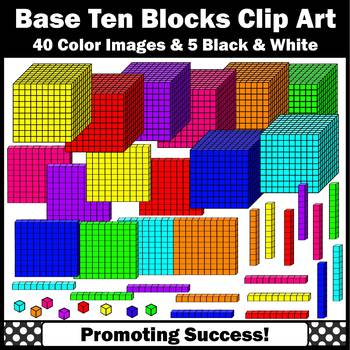 Base Ten Blocks Clip Art, Colorful MAB Clipart for Math Centers or Stations  SPS