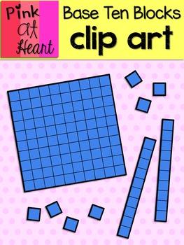 Base Ten Blocks Clip Art FREEBIE