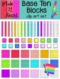 Base Ten Blocks Clip Art Set