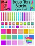 Base Ten Blocks Clip Art Set