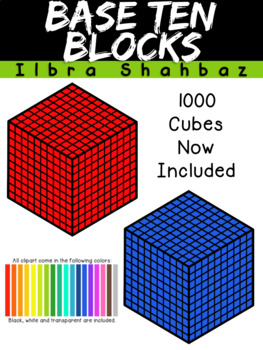 base ten blocks clipart by ilbra israel teachers pay teachers rh teacherspayteachers com Base Ten Unit Base Ten Rod