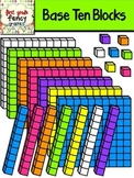 Base Ten Blocks {Colorful Clip Art}