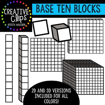 Base Ten Blocks {Creative Clips Digital Clipart}