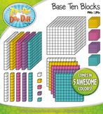 Retro Base Ten Blocks Cube Clipart Set {Zip-A-Dee-Doo-Dah Designs}