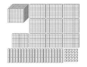 Base Ten Blocks Cut-Outs
