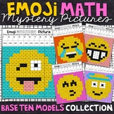 Base Ten | Emoji Place Value Mystery Pictures | Place Value Color by Number