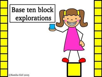 Base Ten Blocks Explorations