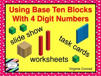 Base Ten Blocks---Four Digit Numbers