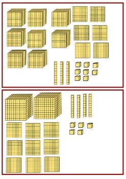 Base Ten Blocks---Four Digit Numbers