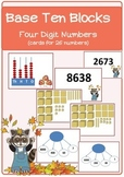 Base Ten Blocks---Four Digit Numbers (English)