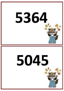Base Ten Blocks---Four Digit Numbers (English)