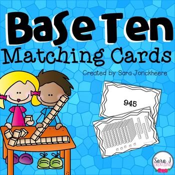 Base Ten Matching Cards