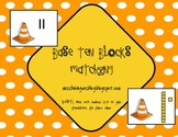 Base Ten Blocks Matching Construction Game - Common Core