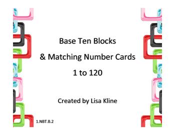 Base Ten Blocks & Matching Number Cards