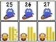 Base Ten Blocks Matching Snow Monster Theme