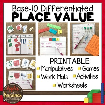 Place Value Base Ten Blocks Ones Tens Hundreds And Thousands