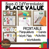 Place Value Base-Ten Blocks - Ones, Tens, Hundreds, and Thousands