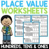 Place Value Worksheets 2nd Grade Ones Tens Hundreds