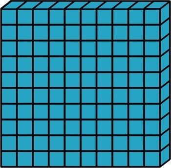 base ten blocks place value clip art 120 images tpt rh teacherspayteachers com thousands base ten block clip art Base Ten Blocks Cut Outs