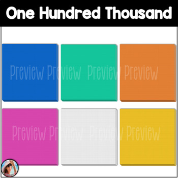 Base Ten Blocks / Place Value Clip Art (To the One Hundred Thousands Place)