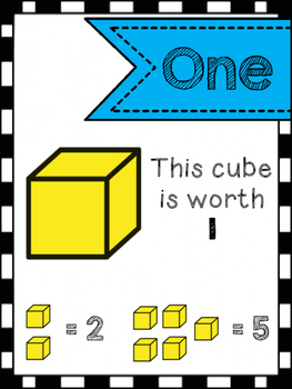 Base Ten Blocks Printable Posters and Flash Cards #1-120