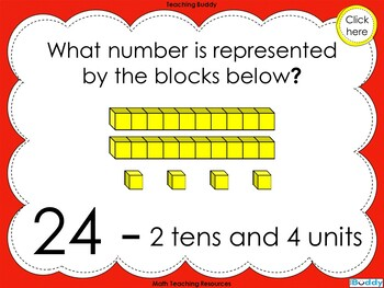 Base Ten Blocks –  Representing numbers 21 – 99