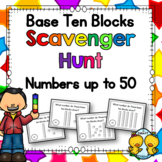 Base Ten Blocks Scavenger Hunt