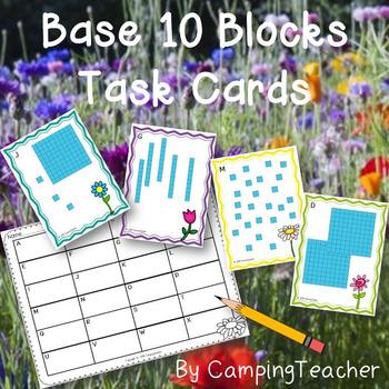 Base Ten Blocks Task Cards